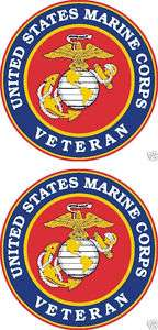 United States Marine Corps Veteran Window Decal USMC