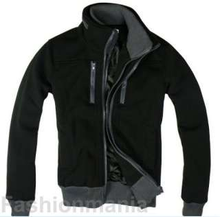 Mens Stylish Slim Zip Up Jacket 3 Color 4 Size J02