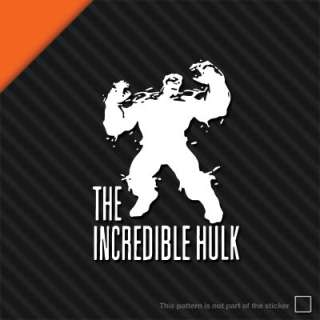 THE INCREDIBLE HULK LOGO Vinyl Sticker Car Wall Decal