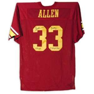 Marcus Allen USC Trojans Autographed Red Jersey with