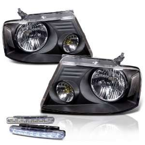 Eautolight 2004 2008 Ford F150 Black Head Lights Lamps + LED Bumper