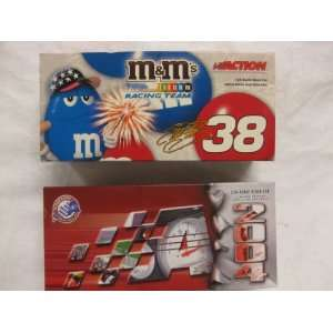 Signed Nascar Elliott Sadler #38 M & Ms / 4th of July 04