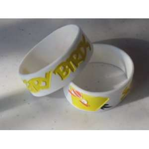 Angry Birds Silicone Rubber Bracelet White / Yellow Color