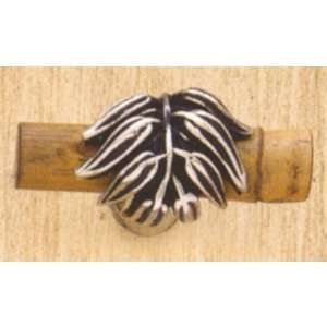 Vicenza Cabinet Hardware K1142 Astichello Knobs Bamboo Antique Silver