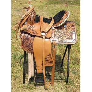 Western Barrel Racing Trail Pleasure Saddle Set  Sports