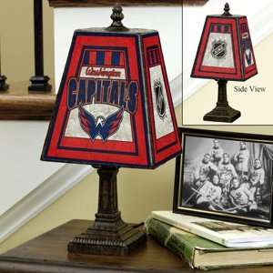 Washington Capitals Art Glass Table Lamp  Sports