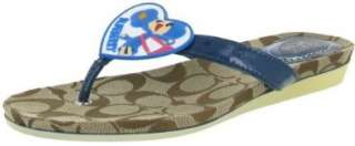 COACH Poppy Chan Womens Authentic Heart Girl Flip Flops