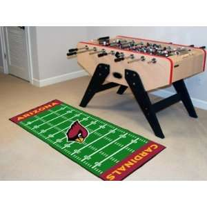 Cardinals 6 ft RUNNER AREA CARPET/RUG FOOTBALL FIELD
