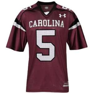 com Under Armour South Carolina Gamecocks #5 Garnet Replica Football