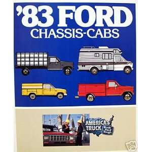 1983 Ford Chassis Cabs vehicle brochure