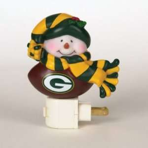 GREEN BAY PACKERS SNOWMAN NIGHT LIGHTS (3) Sports