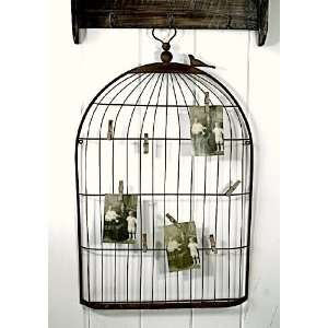 Angie large Wrought Iron Bird Cage Silhouette Wall or Table Display