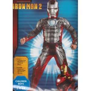 Iron Man 2 Mark V Costume Dress Up Small 4 6x Muscle Chest