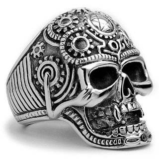 Size 10   Inox Jewelry 316L Stainless Steel Skull Ring Jewelry