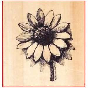 Sunflower Rubber Stamp   Wood Mounted  By Anitas Arts