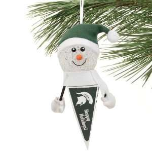 NCAA Michigan State Spartans 5 Light Up Snowman Pennant