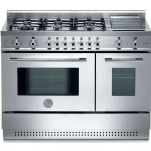 48 Professional Series 6 Burner with Electric Griddle Dual Fuel Range