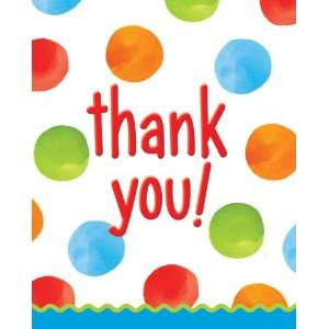1st Birthday Thank You Cards   Polka Dots Boy Everything