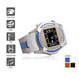 Watch Cell Phone (Blue/black/white) Cell Phones & Accessories
