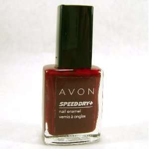 Avon Speed Dry Nail Enamel Polish Red Wine Beauty