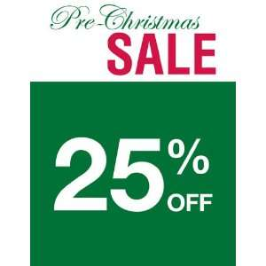 Pre Christmas Sale Red Green Sign