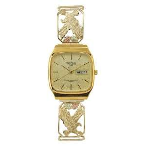 Mens Watch Gold w/ Eagle 9 wb45
