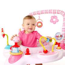 NEW Bright Starts BABY Exersaucer BOUNCER Seat PINK Toy