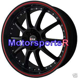 16 XXR 941 Black Red Stripe Rims Wheels 4x100 06 09 10 11 12 Honda Fit