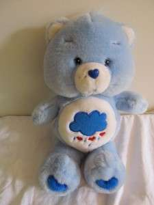 2002 TCFC Care Bears Grumpy bear plush 13 no VHS