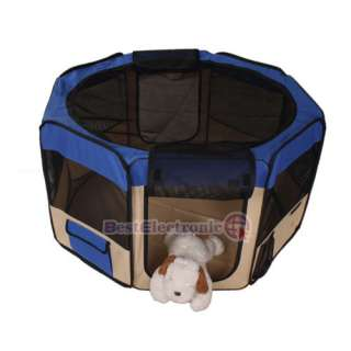 Blue 45 PET PUPPY DOG PLAYPEN EXERCISE PEN KENNEL