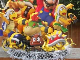 Super Mario Bros Brothers Cake Topper Birthday Party Centerpiece Wii