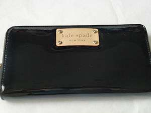 Kate Spade Henry Street Neda Black Zip Around Wallet NEW